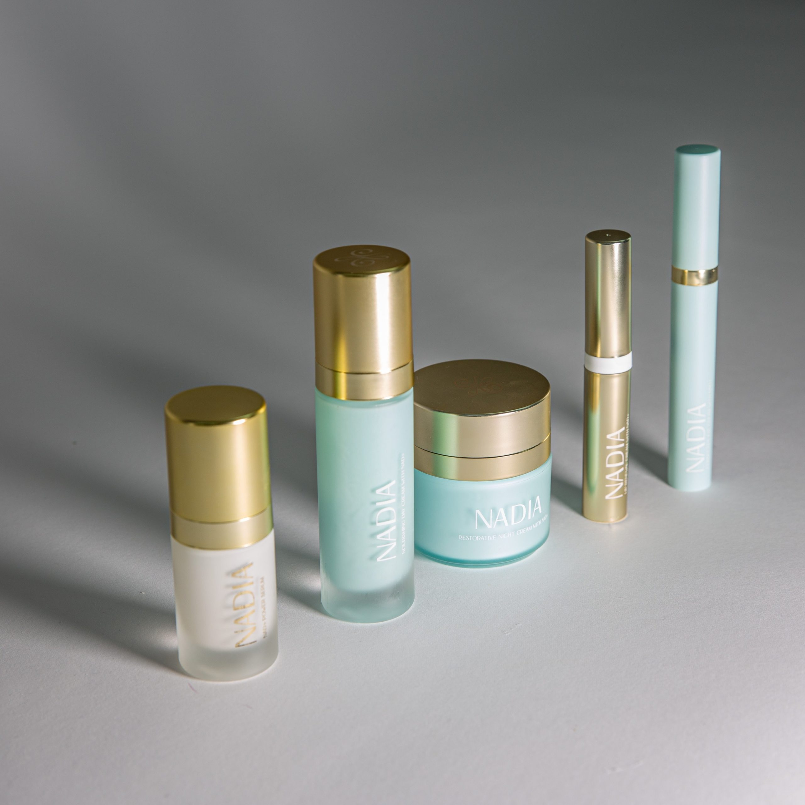 NADIA skincare product line